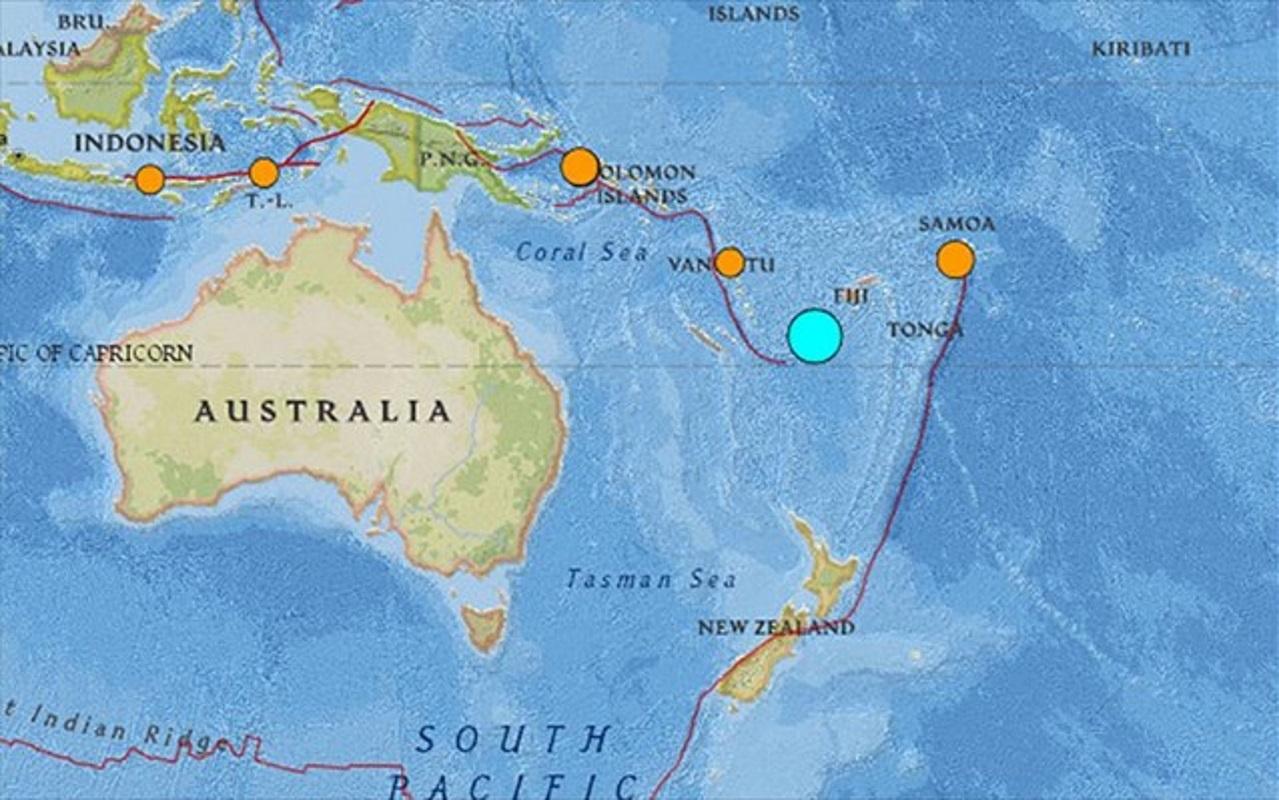 Σεισμός 7,2 Ρίχτερ κοντά στα νησιά Βανουάτου