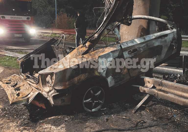 Τροχαίο με νεκρό στην εθνική οδό Βόλου - Λάρισας - Εικόνες από το σημείο