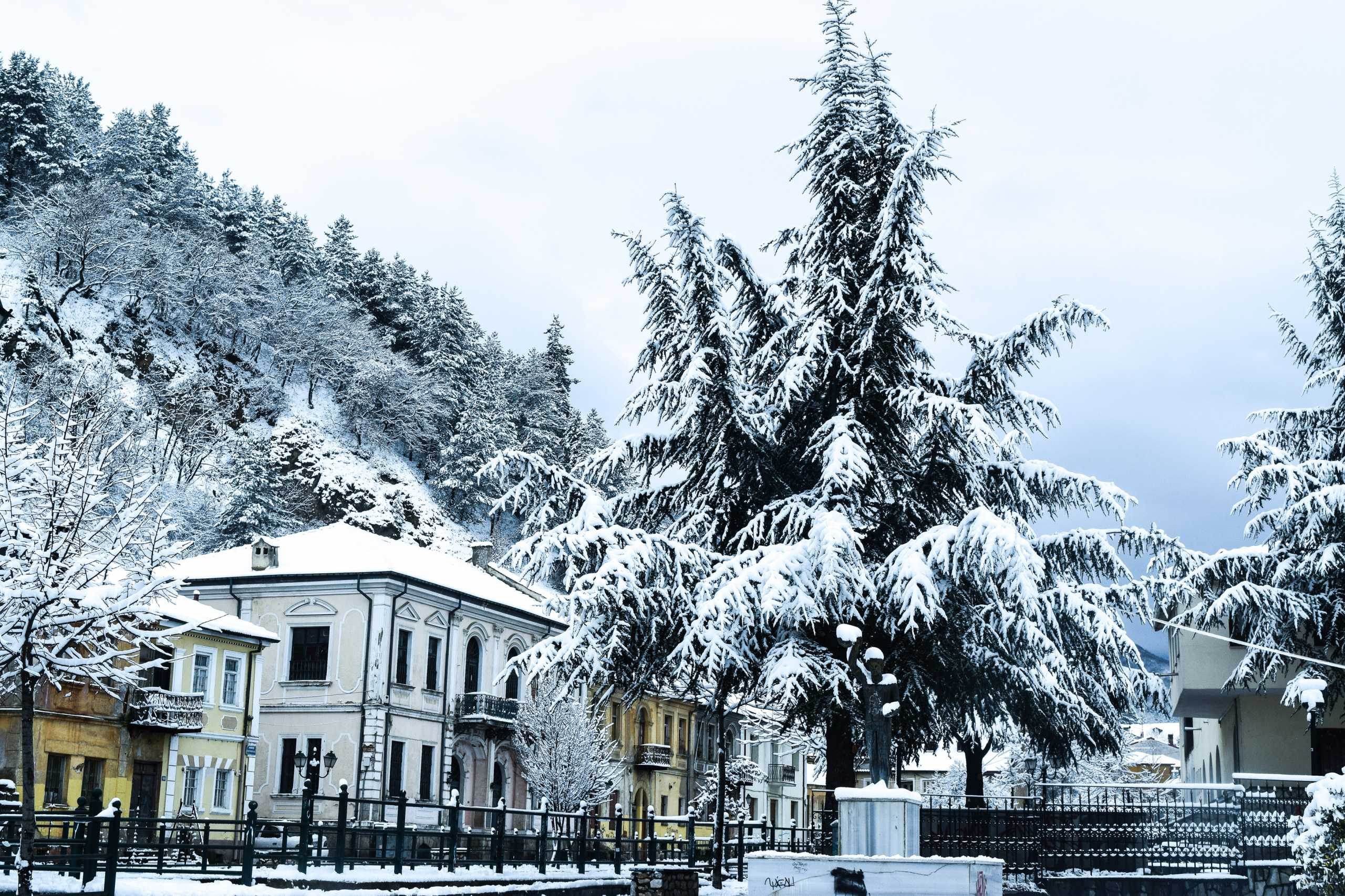 Καιρός – Κακοκαιρία «Μπάλλος»: Χιόνια και ειδυλλιακές εικόνες σε Γρεβενά και Φλώρινα