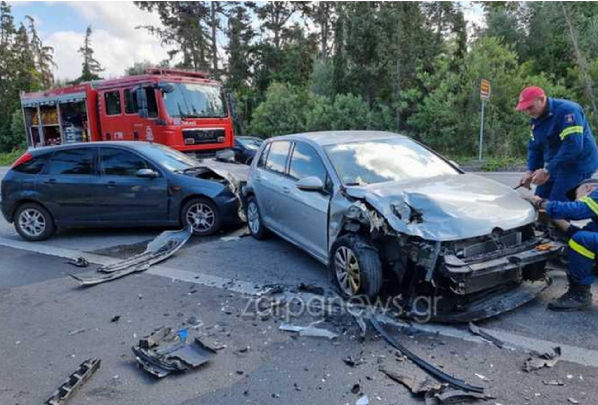 Χανιά: Τροχαίο με τρεις τραυματίες στον κόμβο του Πλατανιά – Αυτοψία στο σημείο του ατυχήματος